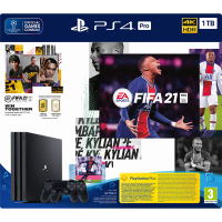 PS4 PRO 1TB + FIFA 21 + 2xDS4