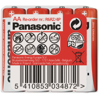 R6 4S AA Red zn PANASONIC