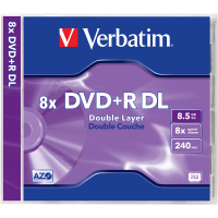 DVD+R DL 8,5GB 8x 1PK JC VERBATIM